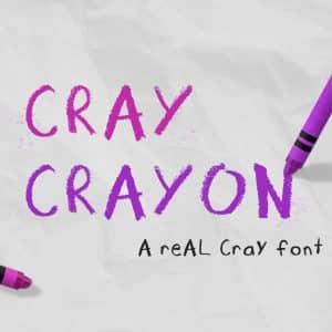Cray Crayon Font Download