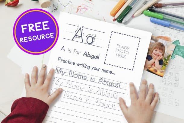 Free Resource for Teaching Handwriting Print - Personalized Generator Tool